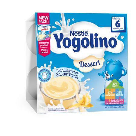 Nestle Бебешки млечен десерт Yogolino Ванилия (4x100 гр.)